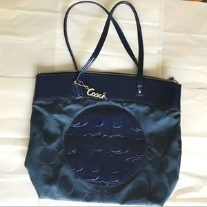 Coach | Large blue bag